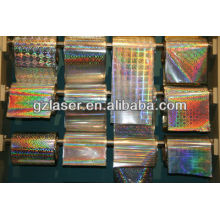 Hologram crystal clear laminating film for gift package