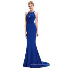 Starzz 2016 sin mangas con espalda elástico Spandex azul real largo vestido de noche formal ST000089-3