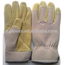 Work Glove-Labor Glove-Safety Glove-Garden Glove-Leather Glove-Grey &Beige Glove