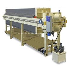 Filtre-presse en fonte à sirop de sucre à lavage automatique