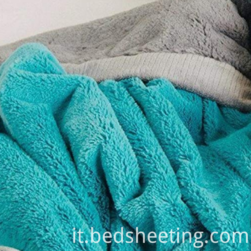 Grey Green Microfiber Reversible Blanket