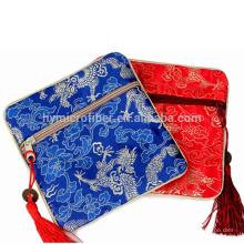 Оптовые ювелирные изделия атласная подарочная сумка на молнии