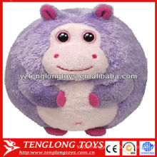 New type hippo shaped baby plush ball toy animal style plush ball toy