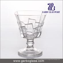 Taza caliente del helado de la venta, cuenco de cristal, Stemware (GB1055BK)