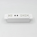White 3 Sockets with 2 USB Ports