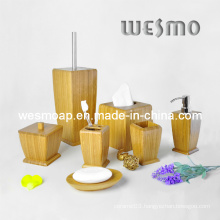 Beauty Care Products Carbonized Bamboo Bathroom Set