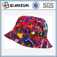 Logo personnalisé / étiquette coton chapeau de godet en blanc