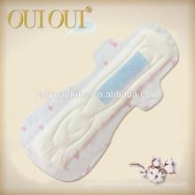 410mm dünn mit Baumwolloberseitenblatt für Nachtzeitgebrauchs-Damenbindefabrik für weiblichen weiblichen Gebrauch