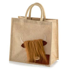 Wholesale Printable Cheap Handle Recycle Tote Folding Jute Hemp Reusable Shopping Bag