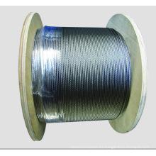 7X7 Dia.1.0mm a 10mm Cable de acero galvanizado