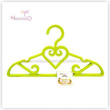 Percha de ropa en forma de corazón de plástico PP Set de 4 (31 * 21cm)