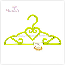 PP Plastic Heart-Shaped Clothes Hanger Set of 4 (31*21cm)