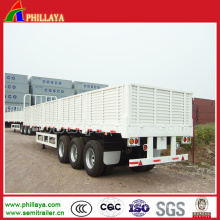 Bulk Cargo Semi Box Trailer with 1.2m High Walls Removable