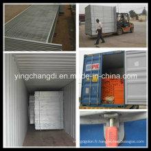 Clôtures temporaires de vente chaude ou clôture de fer temporaire avec fabrication