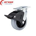5inches Heavy Duty Swivel Проводящие колеса Кастер (с нейлоновым общего тормоза)
