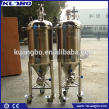 Small volume mobile type beer fermenter for home brewery