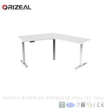 Electric height adjustable Office Sit Standing Desk with 2 segments Lifting column leg