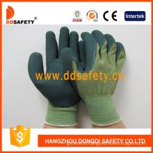 13 Gauge Mixed Bamboo Fiber Liner Greenlatex Work Gloves (DNL316)