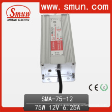 75W 6.25A 12VDC Constant Current LED Driver Waterproof IP67