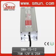 Motorista constante constante IP67 do diodo emissor de luz da corrente de 75W 6.25A 12VDC IP67 impermeável