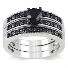 El anillo de boda nupcial de la manera al por mayor fija la joyería del acero inoxidable de China