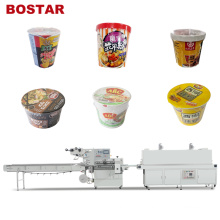 Cup Milk Tea Noodle Automatic Shrink Wrapping Machine