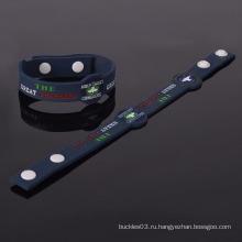 Рекламные моды пользовательских шарм браслеты силиконовой пробки браслет и браслет