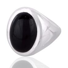 Black Onyx Gemstone 925 Solid Silver Ring Jewelry