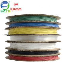 Feibo PE material colorful electric wires insulated diameter 4mm thin wall heat shrink tubing