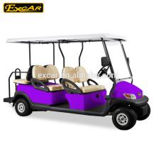 6 lugares de carrinho de golfe elétrico / 48 V carrinho de golfe elétrico transmissão / 4 rodas motrizes carrinho de golfe elétrico