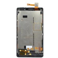 Запчасти для сотовых телефонов для Nokia Lumia 820 LCD Touch Screen Complete