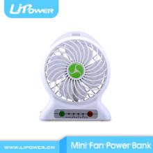5v multi função bateria de lítio Power Station mini ventilador USB para viagens