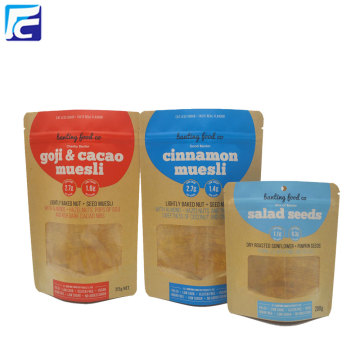 Venta al por mayor Kraft Paper Spice Packaging Stand Up Pouch