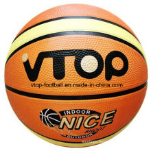 Two Color High Quality 12 Panels Rubber Basketball