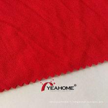 Tissu polyester tricoté en tissu extensible brossé Ducati