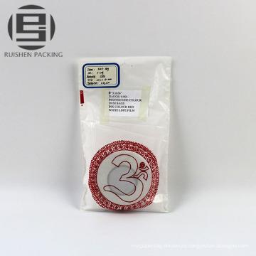 Bolsas de embalaje plano pe biodegradable blanco