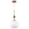 White dinning bar led ceiling hanglamp glas