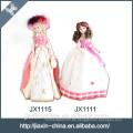 Schöne Prinzessin Puppe billige dekorative Keramik Tischlampe