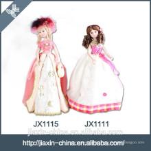 Lámpara de mesa de cerámica decorativa barata barata de la muñeca de la princesa
