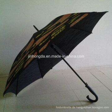 Erhitzen Sie Print doppelte Rippen guter Qualität gerade Regenschirm oder Sonnenschirm (YS-1040A)