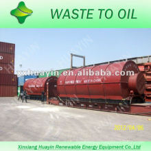 no pollution white smoke waste tyre oil refining plant machine with CE and ISO