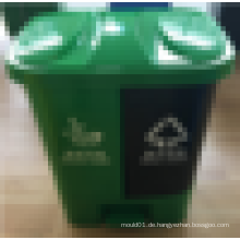 2016 Neuer Entwurf heißer Verkauf 40L Plastikmüllbehälter, der in zwei Dosen mit Fußpedal geteilt wird