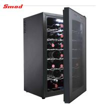 Refrigerador do vinho do controle de umidade da porta da tela de toque de 24 garrafas