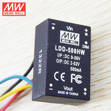 MEANWELL DC DC Converter with wire 9-56VDC Input 500mA 2-52V Output CE&FCC Led Driver LDD-500HW
