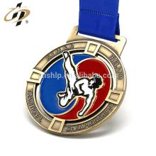 Custom zinc alloy metal enamel taekwondo sports award medal