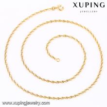 41804 Xuping simples mais recente projeto mulheres de ouro colar de corrente