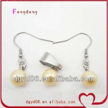 Vente chaude Boucle d'oreille de mode et pendentif ensemble de bijoux