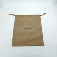 sacos de cosméticos de juta com cordão