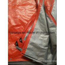 Orange/Silver PE Tarpaulin Sheet, China Finished Tarpaulin Cover
