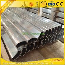 Profil de main courante en aluminium de revêtement de poudre de Customzied pour le balcon